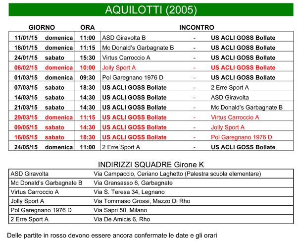 Calendario Aquilotti 2005 Print Page