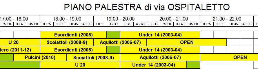 Di seguito gli orari degli allenamenti per l'anno 2017-2018 di tutte le nostre squadre. MINIBASKET ORARIO SUDDIVISO PER ANNO DI NASCITA e CATEGORIA: 2012-13 (micro) ogni venerdì ore 17.00-18.00 2011 […]